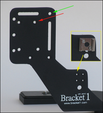 Bracket1HD2 Accessory Mounting Holes