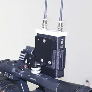 Universal Wireless Receiver Mounting Kit on Camera